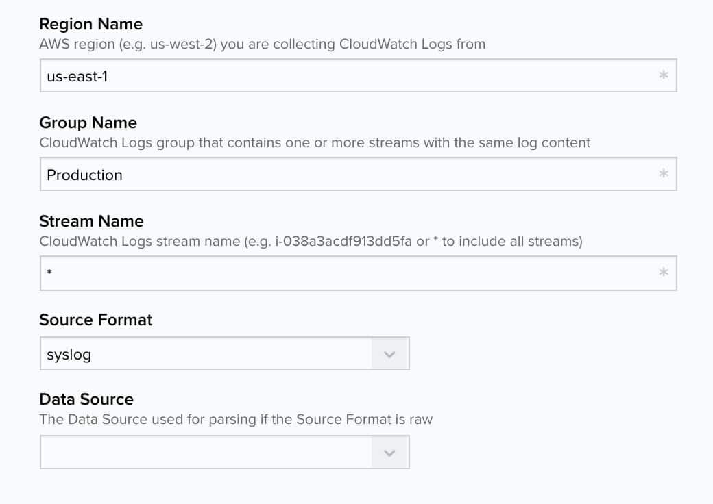 Collecting Amazon CloudWatch logs in USM Anywhere