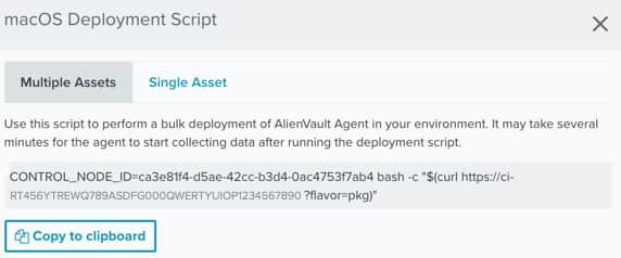 AlienVault Agent Installation on macOS Hosts