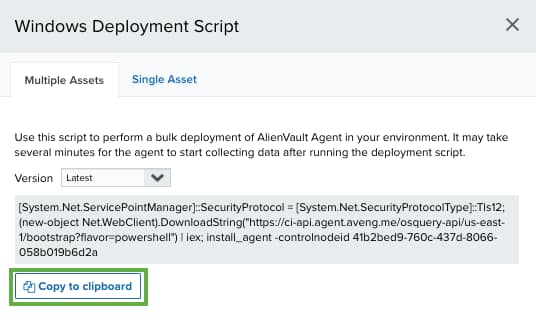 AlienVault Agent Installation on Windows Endpoints
