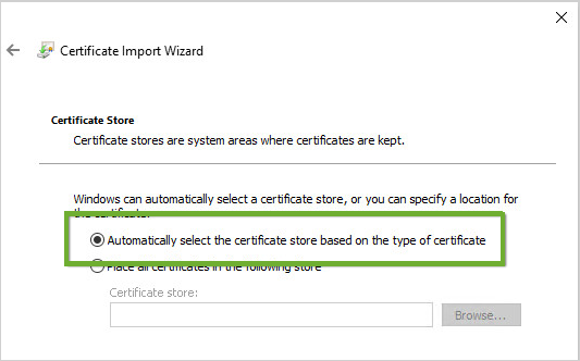Windows Event Collector Manual Certificate Installation