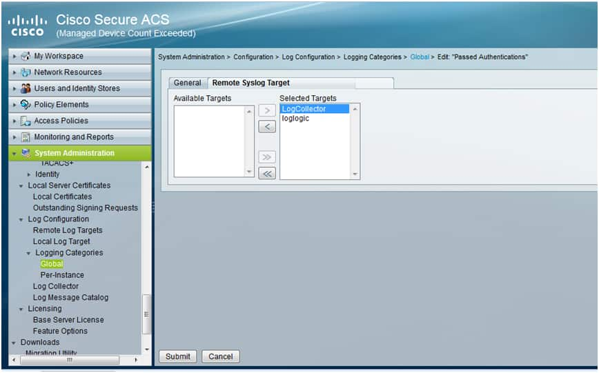 USM Anywhere Plugin for Cisco ACS
